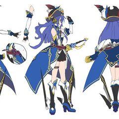 Tsubasa's Pirate Gear Concept Art