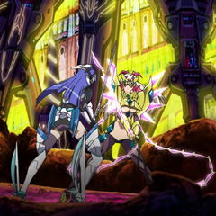 Tsubasa fighting against Finé