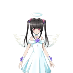 Shirabe in a Angel Costume