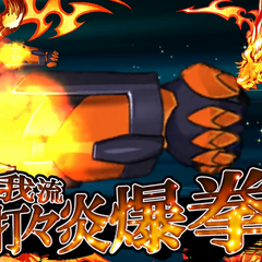 Hibiki Style・Dozens Flaming Fists Explosive