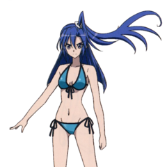 Tsubasa's swimsuit.