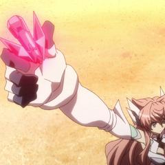Maria activating her Ignite Module.