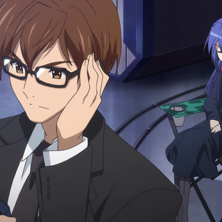 Shinji receives call from <a href=
