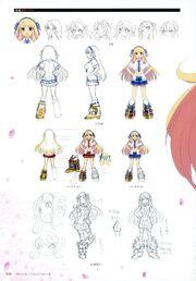 Yande.re 460713 sample character design expression heels katsuragi line art no bra open shirt seifuku senran kagura yaegashi nan