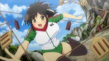 Asuka entrenando