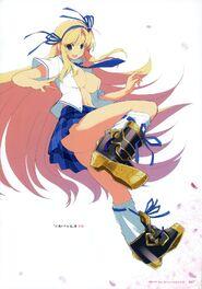 Yande.re 460714 sample heels katsuragi no bra open shirt seifuku senran kagura yaegashi nan