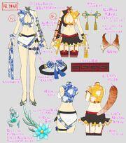 Katsu y Ayame Bocetos2