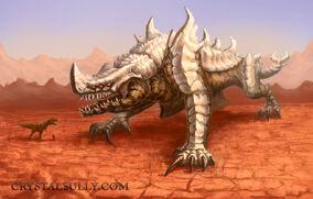 Desert kaiju lord of bones by crystalsully-d6es4vg