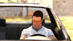 Sam in car