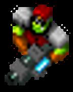 Orc Captain laser cannon