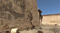 Скелет на стене