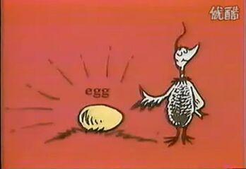 Mother bird with golden egg