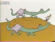 And crocodile pants