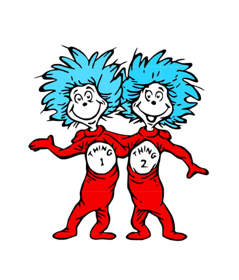 photo relating to Thing 1 and Thing 2 Logo Printable named Issue 1 and Point 2 Dr. Seuss Wiki FANDOM driven by means of