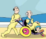 Old Man in a wheel chair