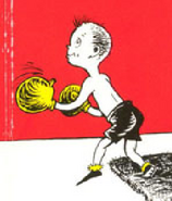Boy practicing boxing