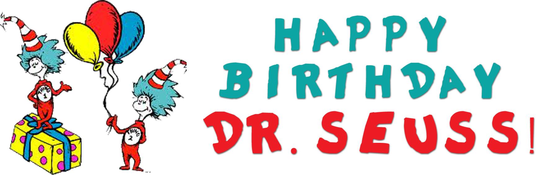 Happy Birthday Dr Seuss Clip Art