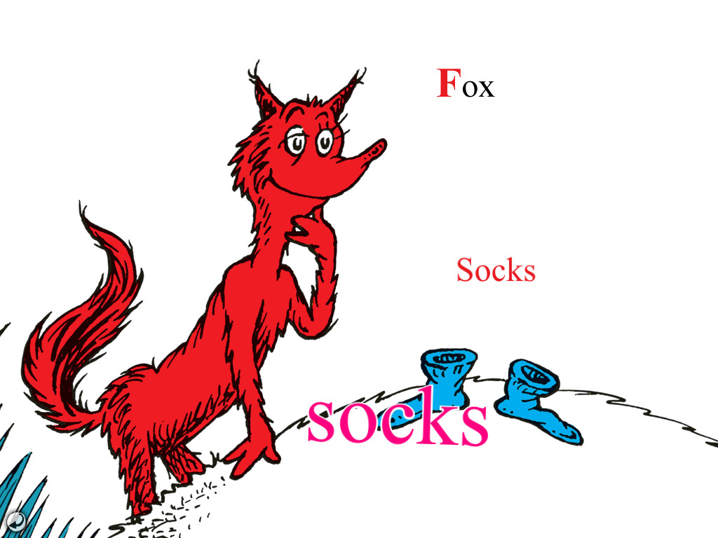 Image Fox In Socks Jpg Dr Seuss Wiki Fandom Powered By Wikia Dr Seuss Fox In Sox Coloring Pages