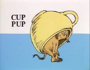 The cup is on pup