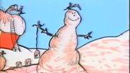 A pink snow man