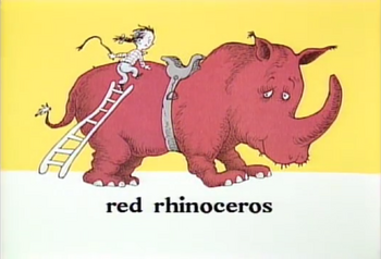 Rupert the red rhinoceros