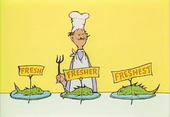 But his best fish is his freshest fish