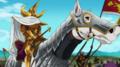 Arthur avec son armée dans l'anime