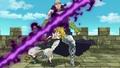 Meliodas esquive l'attaque de Hendricksen anime