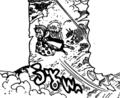 King parle a Love Helm hors du ring de Byzel