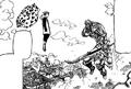 King vs Helbram au Royaume de Liones
