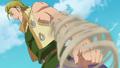 Hauser qui utilise le vent avec son bras