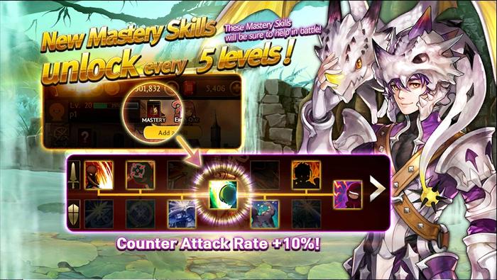 Mastery screen