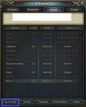 Guild quit
