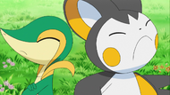 Snivy and Emolga