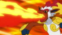 Ash Infernape Flamethrower