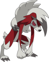 Lycanroc Midnight SM anime