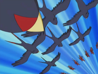 Ash's Swellow Double Team