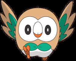 Rowlet anime artwork