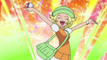 Bianca After Cathing Pokemon