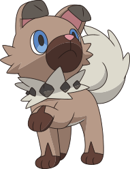 Rockruff anime artwork
