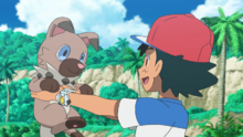 Ash and Rockruff