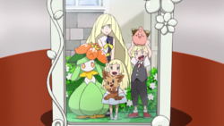 Lillie, Gladion and Lusamine