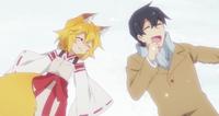Senko and Nakano in Snow