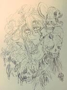 Narumi and skulls
