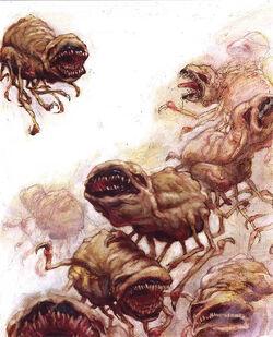 Ravid in Ash by Adam Rex-02635 (1998) TSR AD&D Planescape - Monstrous Compendium Appendix III