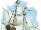 Halruaański latający statek