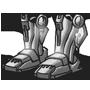 Roboterfuesse des kybernetischen Organismus