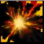 Lustige Taschenexplosion