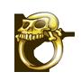 Golden Skull Ring of Captain Bluebeard