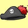 Piratenhut des Seeraeuberhauptmannes